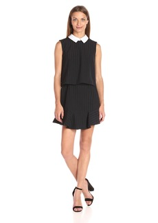 BCBGMax Azria Women's Abygail Sleeveless Collar Dress