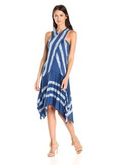BCBGMax Azria Women's ADA Printed Asymmetrical Knit Dress  M