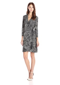 BCBG Max Azria BCBGMax Azria Women's Adele Fan Printed Wrap Dress