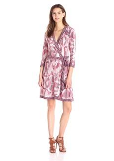 BCBGMax Azria Women's Adele Printed Matte Jersey Wrap Dress