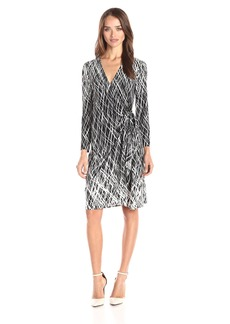 BCBGMax Azria Women's Adele Printed Wrap Casual Dress