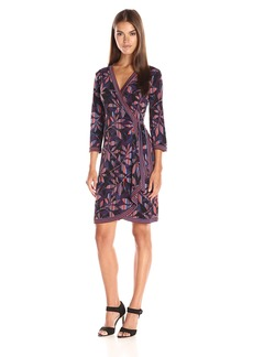 BCBGMax Azria Women's Adele Printed Wrap Dress