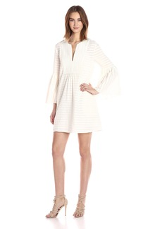 BCBGMax Azria Women's Adina Woven Bell Sleeve Dress  L