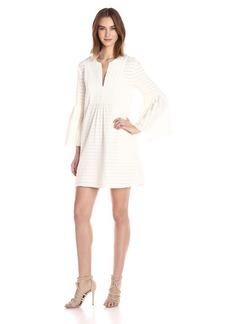 BCBGMax Azria Women's Adina Woven Bell Sleeve Dress  M