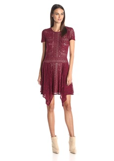 BCBGMax Azria Women's Aileen Crew Neck Short Sleeve Dress
