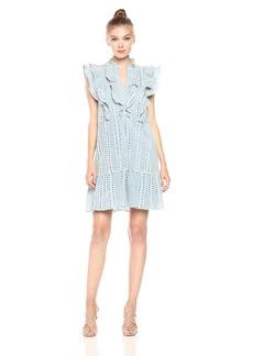 BCBG Max Azria BCBGMax Azria Women's Alica Woven Ruffle Placket Dress  S
