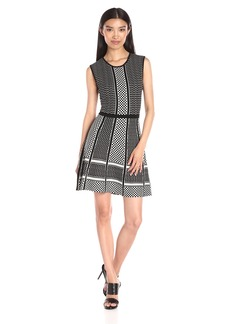 BCBGMax Azria Women's Alix Jacquard Peplum Dress