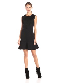 BCBG Max Azria BCBGMax Azria Women's Alyn Cocktail Dress with Fringe Along Neckline