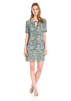 BCBG Max Azria BCBGMax Azria Women's Andie Print-Blocked Short-Sleeve Dress