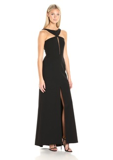 BCBGMax Azria Women's Angie Long Halter Dress