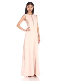 BCBGMax Azria Women's Ashlee Sleeveless Dress Lace Inset