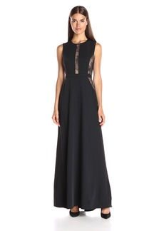 BCBGMax Azria Women's Ashlee Sleeveless Dress Lace Inset