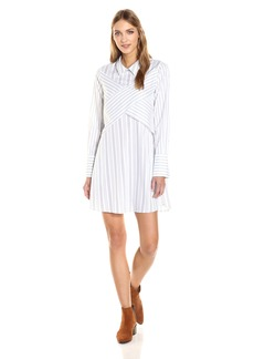 BCBGMax Azria Women's Azriel Woven Casual Dress  L
