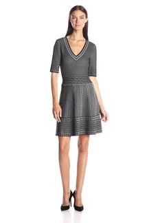 BCBG Max Azria BCBGMax Azria Women's Bettina Lace Relief Jacquard Dress
