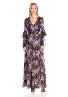 BCBGMax Azria Women's Beverle V-Neck Evening Gown