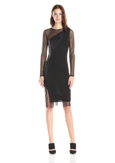 BCBG Max Azria BCBGMax Azria Women's Blaine Long Sleeve Color Block Dress