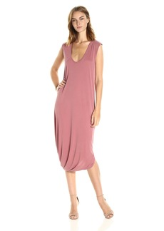 BCBG Max Azria BCBGMax Azria Women's BRE Asymmetric Sleeveless Knit Casual Dress  L