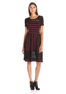 BCBGMax Azria Women's Bryonna Short Sleeve Dress