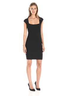 BCBGMax Azria Women's Caelan Square Neck Fitted Dress