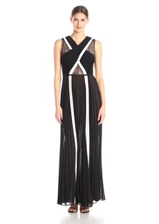 "BCBGMax Azria Women's ""Caia"" Sleeveless Colorblock Evening Gown"