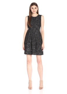 BCBGMax Azria Women's Cassandra Sleeveless a-Line Lace Dress