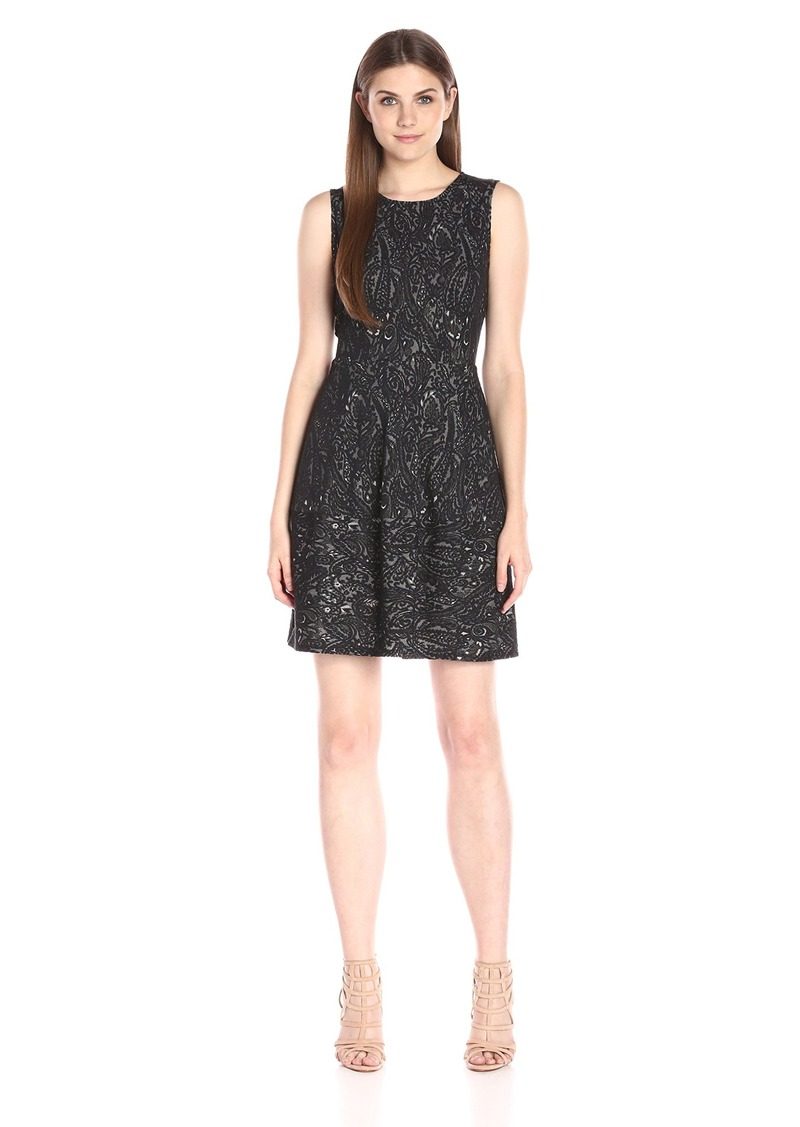 BCBGMax Azria Women's Cassandra Sleeveless a-Line Lace Dress