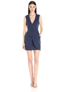 BCBG Max Azria BCBGMax Azria Women's Clare Sleeveless Wrap Drape-Skirt Dress