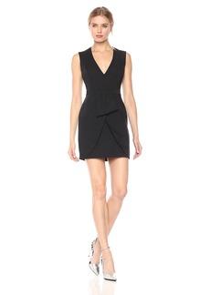BCBGMax Azria Women's Clare Woven Sleeveless V-Neck Dress
