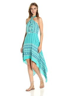 BCBG Max Azria BCBGMax Azria Women's Danela Woven Crossover Neck Scarf Printed Dress