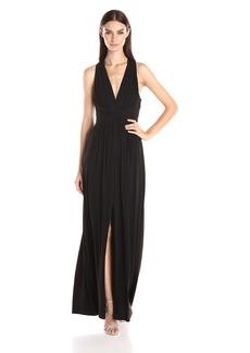 BCBGMax Azria Women's Danicka Deep V-Neck Gown