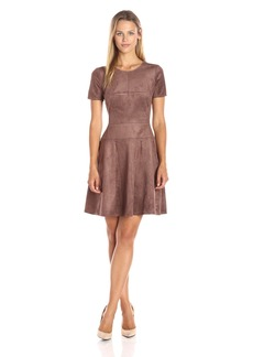 BCBGMax Azria Women's Darra Faux-Suede Casual Dress
