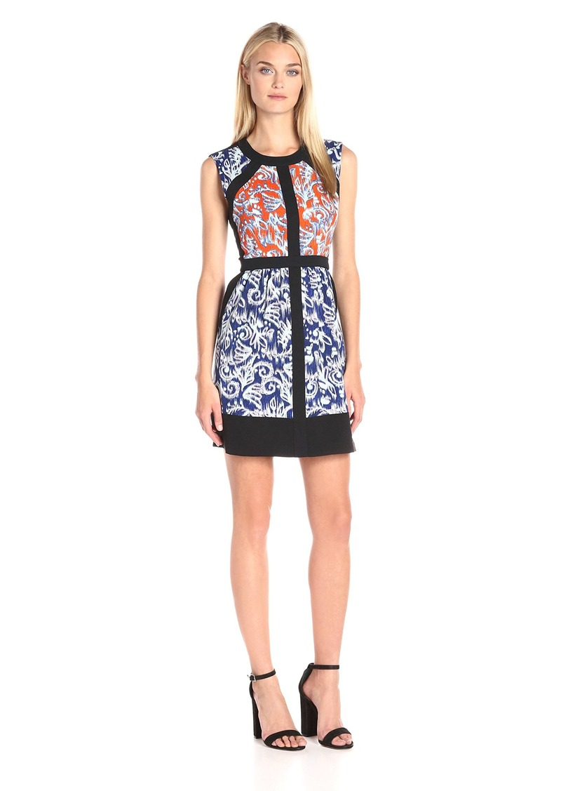 BCBG Max Azria BCBGMax Azria Women's Donatella Print Block Dress