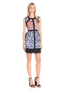 BCBGMax Azria Women's Donatella Print Block Dress