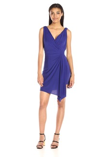 BCBGMax Azria Women's EDA Short Asymmetrical Dress