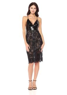 BCBG Max Azria BCBGMax Azria Women's Elvita Knit Lace Dress with Sequined Bodice