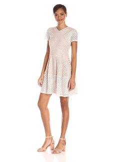 BCBGMax Azria Women's Elyze Eyelet A Line Dress
