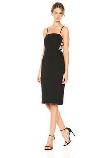 BCBGMax Azria Women's Esmee Cutout Woven Halter Dress