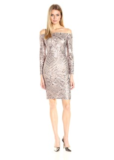 BCBG Max Azria BCBGMax Azria Women's Eunice Knit Evening Dress  M