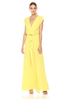 BCBGMax Azria Women's Evette Woven Ruffle Dress