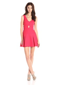 BCBGMax Azria Women's Harlie Cut Out Cocktail Dress with Trumpet Bottom