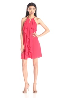 BCBGMax Azria Women's Hattie Short Ruffle Dress