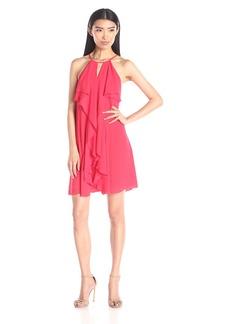 BCBGMax Azria Women's Hattie Short Ruffle Dress