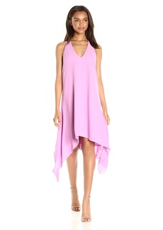 BCBGMax Azria Women's Haylee-V-Neck Drape Back Woven Cocktail Dress  S