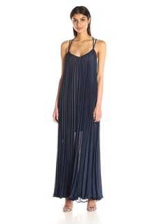 BCBGMax Azria Women's Isadona Pleated Maxi Dress with Crossover Straps
