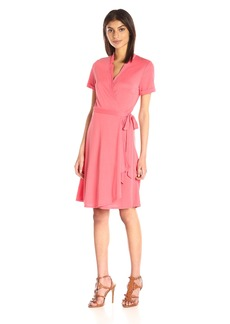 BCBGMax Azria Women's Izabell Short Sleeve Wrap Dress