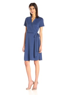 BCBGMax Azria Women's Izabell Short Sleeve Wrap Dress