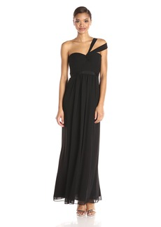 BCBGMax Azria Women's Jamille Woven Evening Long Dress