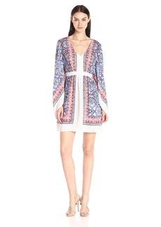 BCBGMax Azria Women's Jenissa Printed Kimono-Sleeve Dress