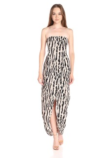 BCBGMax Azria Women's Jesse Draped Strapless Evening Dress