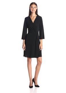 BCBGMax Azria Women's Jordana 3/4 Sleeve Wrap Dress